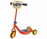 Самокат трехколесный Fireman Sam - Smoby - Франция - с силиконовыми колесами и мягкими резиновыми ручками