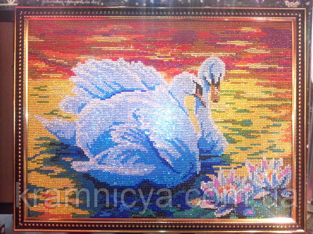 Алмазная мозаика DIAMOND MOSAIC Пара лебедей