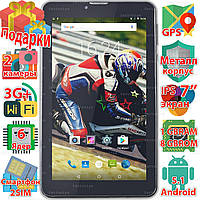Супер Планшет Samsung X7 1024*600 Android 5.1 IPS 6 ядер 3G 8Gb звонки 2 sim GPS навигация 3000 mAh + Пленка