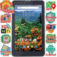 Samsung X7 планшет дуос 2 sim таблет Android 5.1 GPS навигация wi-fi 1024*600 IPS 6 ядер 3G sms 3000mAh Aкция!