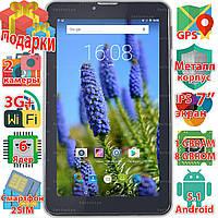 Планшет смартфон Samsung X7 таблет Android 5.1 GPS 2 sim навигация wi-fi 1024*600 IPS 8Gb 6ядер 3G sms 3000mAh