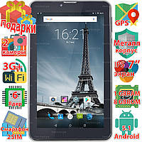 Планшет 3 в 1: Samsung X7 Android 5.1 wi-fi 1024*600 IPS 6 ядер 3G 2 sim звонки GPS навигация 3000mAh + Пленка