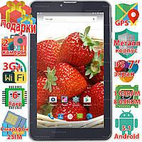 Игровой планшет Samsung X7 GPS навигация Android 5.1 wi-fi 1024*600 IPS 6 ядер 3G 2 sim 8Gb звонки 3000 mAh