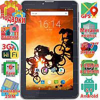 Планшет телефон Samsung X7 wi-fi 2 sim таблет Android 5.1 GPS навигация 1024*600 IPS 6 ядер 3G sms 8Gb 3000mAh