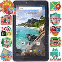 3G планшет смартфон Samsung X7 Android 5.1 wifi 2 sim таблет 8Gb GPS навигация 1024*600 IPS 6 ядер sms 3000mAh