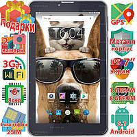 GPS планшет навигатор Samsung X7 8GB Android 5.1 GPS навигация wi-fi 1024*600 IPS 6 ядер 3G 2 sim sms 3000 mAh