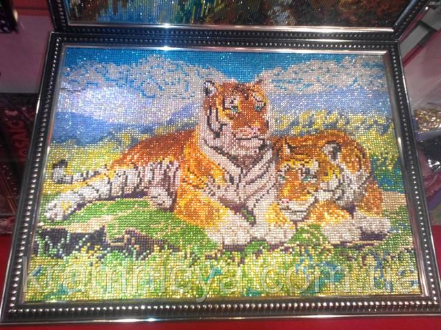 Алмазная мозаика DIAMOND MOSAIC Тигры