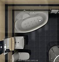 Ванна акриловая угловая Koller Pool коллекция Nadine 170x100х42 L\P