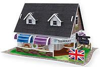 Трехмерная головоломка-конструктор Свадебный чайный домик серии Англия, CubicFun