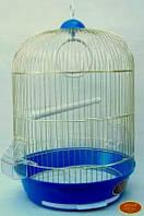 Круглая клетка для попугаев- золото 33х53 309.Золотая клетка