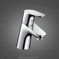 Смеситель для раковины однорычажный с донным клапаном Hansgrohe коллекция Focus E2 хром 31539000