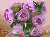 Игра Картины по номерам (BRM-GX7264) Розовые пионы (50х40)