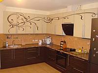 Кухонная мебель EGGER  (узор абстракт, коричневый)