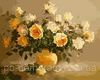 Игра Картины по номерам (KH278) Нежно-желтые розы (40х50)