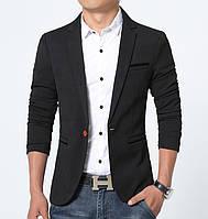 Пиджак casual мужской приталенный под джинсы, пиджак мужской с одной пуговицей на каждый день