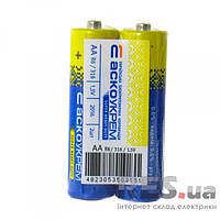 Батарейка солевая АА, R6 1,5 В (спайка 2 шт) АскоУкрем