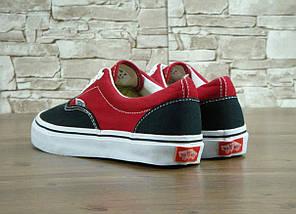 Кеды Vans ERA Black/Red, (унисекс), вансы, венсы, фото 2