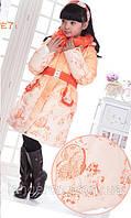Пуховик для девочки градиент куртка на пуху размер 146