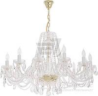 Люстра хрустальная  Arte Lamp  12х40 Вт E14 золото A1030LM-12GO