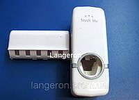 Автоподатчик зубной пасты и подставка под щетки диспенсер дозатор