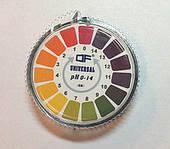 Лакмусовая бумага (pH-тест) 1-14 рН, в рулоне 5 м