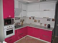 Кухонная мебель EGGER (розовый с белым)