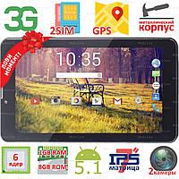3 в 1 Планшет навигатор телефон Samsung X7 экран 7 дюймов HD IPS Android 5.1 1GB+8GB 3G 2SIM GPS 0.3/2МП