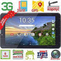 Супер планшет 2SIM Samsung X7 экран 7 дюймов HD IPS Android 5.1 Quad core 1GB+8GB 3G GPS Камера 0.3/2МП aкция!