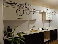 Кухонный гарнитур EGGER (черный с белым) абстракт