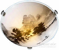 Светильник потолочный  Blitz 1х60 Вт E27 серый с рисунком 2971-21