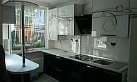 Кухонная мебель EGGER абстрактный узор (черный с белым)