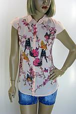 Блузка  с воротничком  и принтами , фото 3
