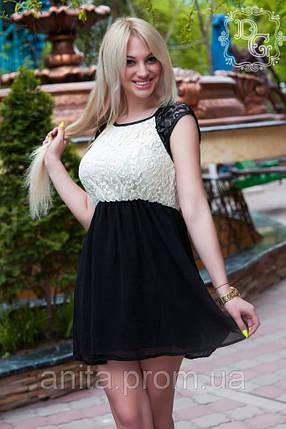 "Д80 Платье гипюр,шифон  ""Мираж"", фото 2"