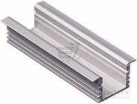 Профиль алюминиевый  TIS для LED ленты 12x16 мм врезной серебро 200 см ЛПВ12