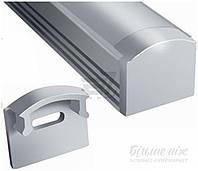 Комплект для LED ленты  LP врезной профиль+рассеиватель ЛПВ7-РМ 100 см