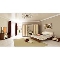 Спальня Виола 4-х дв. ваниль/вишня бюзум