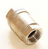 Клапан обратный нержавеющий резьбовой пружинный AISI304 Ду20 Ру16, фото 3