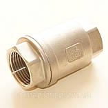 Клапан обратный нержавеющий резьбовой пружинный AISI304 Ду20 Ру16, фото 4