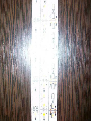 Светодиодная линейка12v белая на алюминию, фото 2