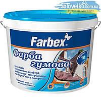 Резиновая краска синяя матовая  RAL 5005 Farbex 12кг