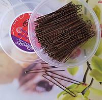 Шпильки для волос коричневые 7,5 см, уп. 350шт