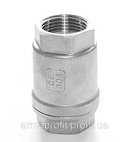 Клапан обратный нержавеющий резьбовой пружинный AISI304 Ду32 Ру16