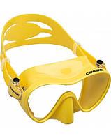 Маска для плавания детская Cressi Sub F1 Junior, жёлтая Кресси Саб Джуниор подводной охоты дайвинга снорклинга