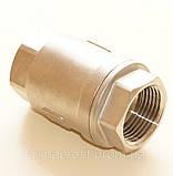 Клапан обратный нержавеющий резьбовой пружинный AISI304 Ду50 Ру16, фото 5