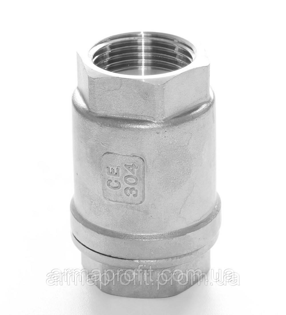 Клапан обратный нержавеющий резьбовой пружинный AISI304 Ду50 Ру16