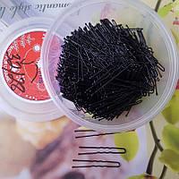 Шпильки для волос черные 5 см , уп 460шт