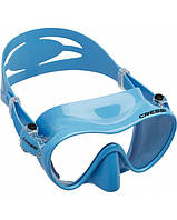 Маска для плавания детская Cressi Sub F1 Junior, синяя Кресси Саб Джуниор подводной охоты дайвинга снорклинга