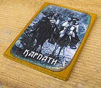 """Дерев'яний магнітик на холодильник """"Карпати"""" - 2"""