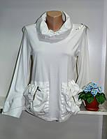 Джемпер белого цвета с длинным рукавом
