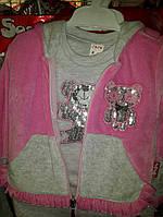Детские костюмы велюровые паетки